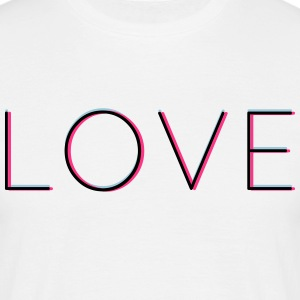 LOVE - love in 3d with Neon Vintage Hipsterfeeling - Men's T-Shirt