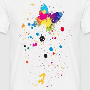 Spray vlinder - Mannen T-shirt