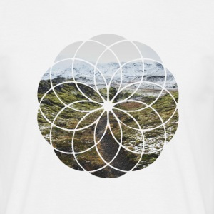Geometric Shape - Landscape and Mountain - Men's T-Shirt