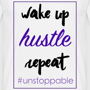 wake up, hustle,repeat - Männer T-Shirt