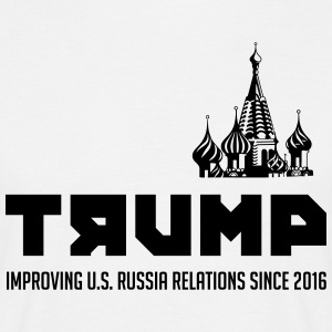 Trump: Improving US. Russia relations since 2016 - Men's T-Shirt