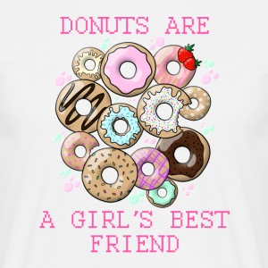 Donuts are a girl's best friend - Men's T-Shirt