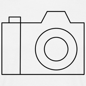 Camera Outline - Mannen T-shirt