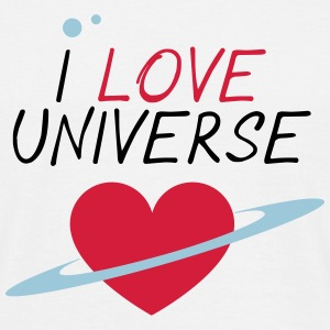 I_LOVE_UNIVERSE - T-skjorte for menn