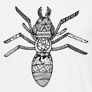 Zentangle-Ant - T-shirt herr