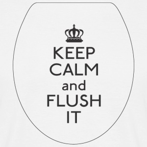 FLUSH Keep Calm - Herre-T-shirt