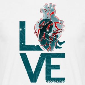 Techeart_LOVE - T-skjorte for menn