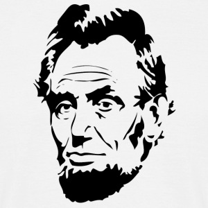 Face Of President Abraham Lincoln - T-shirt herr