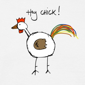 hey_chick_color - T-shirt herr