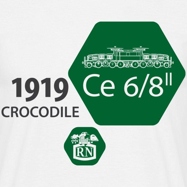 Waben Krokodil grün