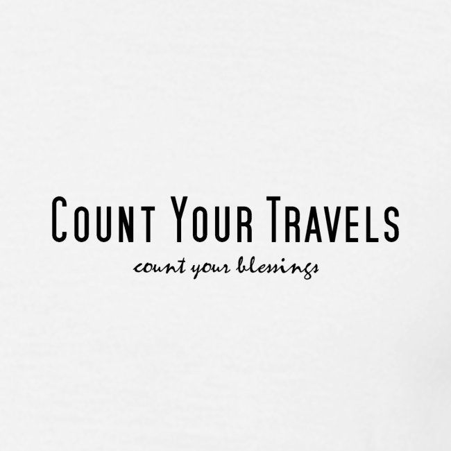 Small design count your travels