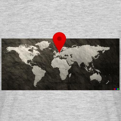 Weltkarte Standort - Männer T-Shirt