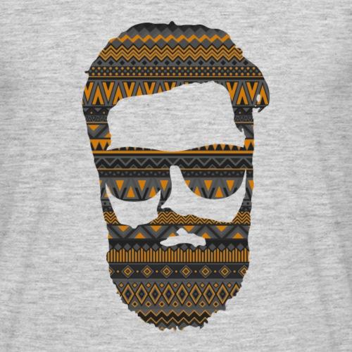 hipster grau orange - Männer T-Shirt