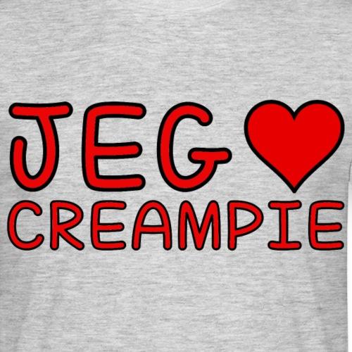 Jeg elsker CREAMPIE - T-skjorte for menn