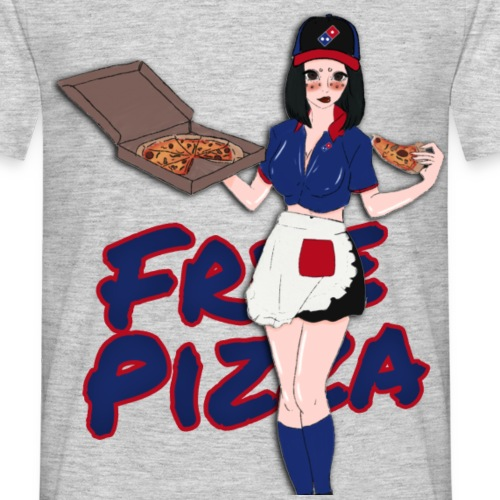 Free Pizza by HellHoePastel - T-shirt Homme