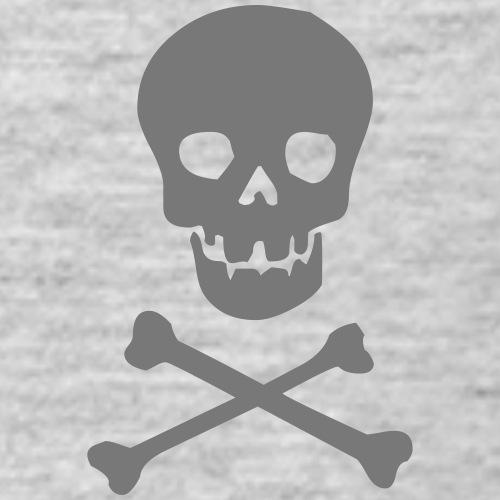 Skull & Crossbones (grey) - Men's T-Shirt