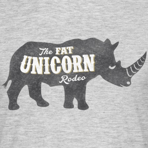 Fat Unicorn Rodeo - Männer T-Shirt
