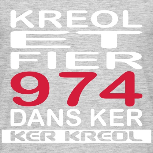 974 ker kreol - Kreole et Fier - T-shirt Homme