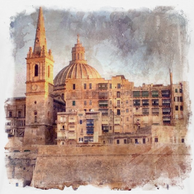 Valletta Malta Vintage Design