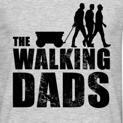 The Walking Dads Vatertag Bollerwagen - Männer T-Shirt