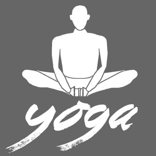 yoga bianco yogi namaste pace amore arte hippie - Maglietta da uomo