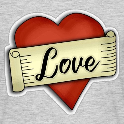 Love cœur tatouage - T-shirt Homme