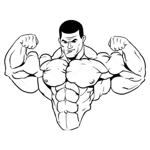 Overkropp muskler - T-shirt herr