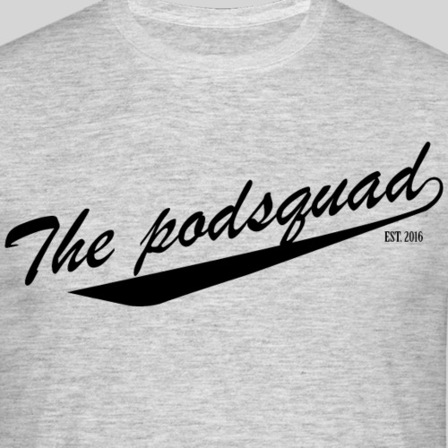 podsquad logo black - Men's T-Shirt