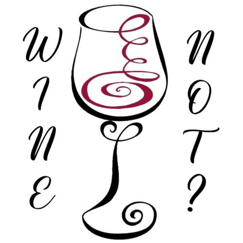 vino no - Maglietta da uomo