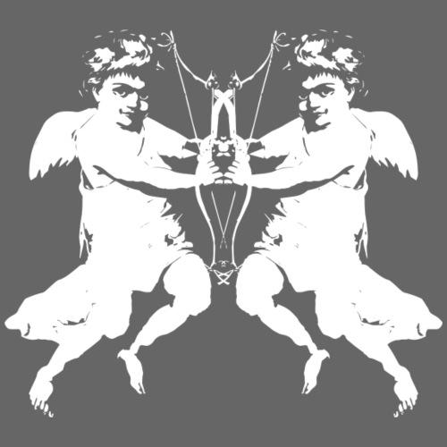 angelo cherubino geometrico stencil - Maglietta da uomo