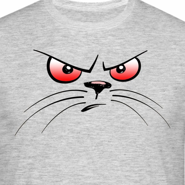 GATTO ARRABBIATO OCCHI ROSSI - ANGRY CAT RED EYES