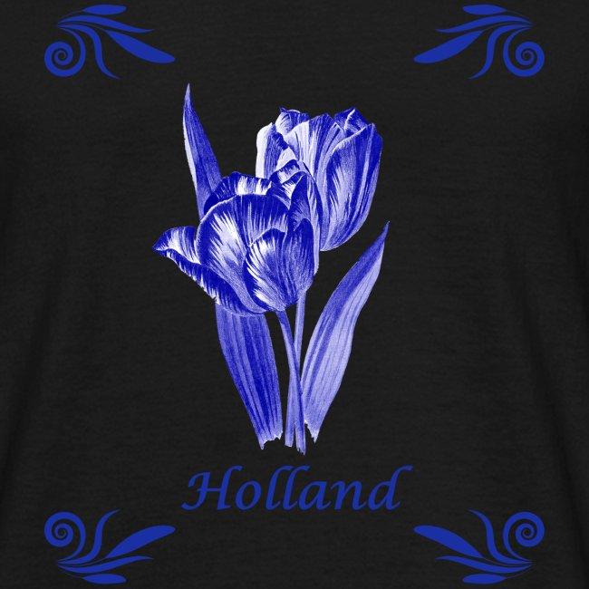 Tulpen delfts blauw vintage