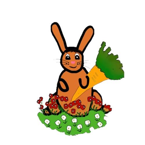 Rabbit with carrot - Men's T-Shirt