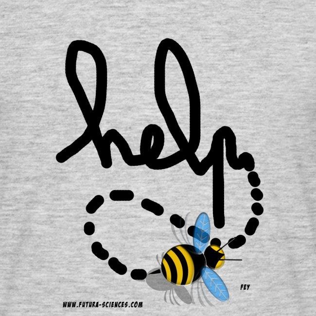 Help abeille texte noir