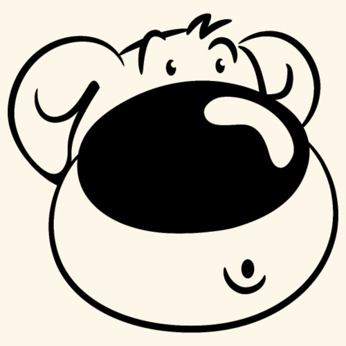Bär mit Schmollmund - Männer T-Shirt