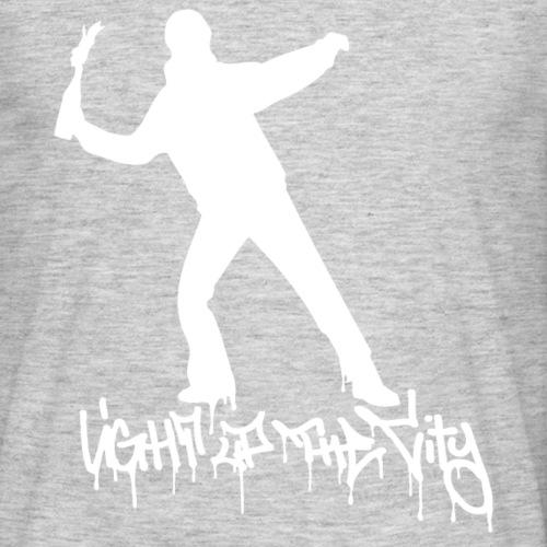 Light up the City - valkoinen printti - Miesten t-paita