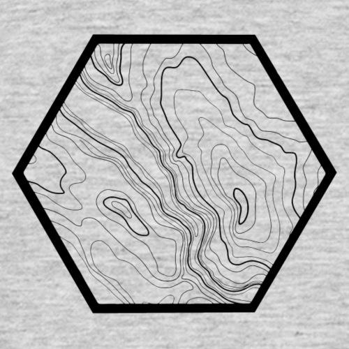 geografic hexagon black - Männer T-Shirt