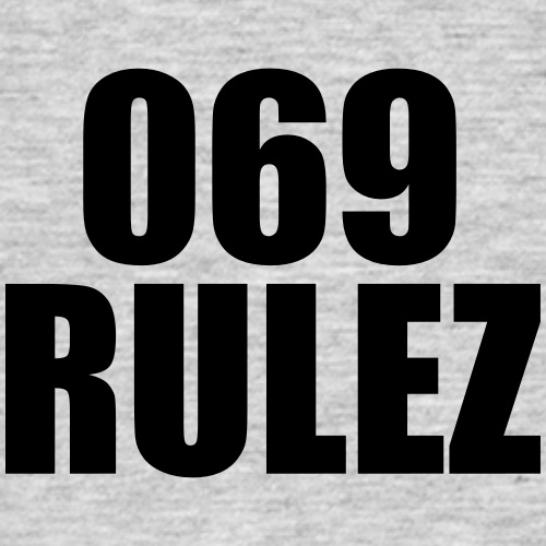 069 RULEZ - FRANKFURT MOTIVE - Männer T-Shirt