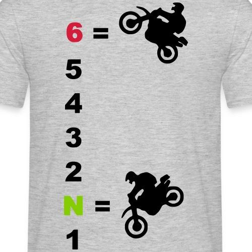 Wheelie/ Stoppie Gang anzeige - Männer T-Shirt
