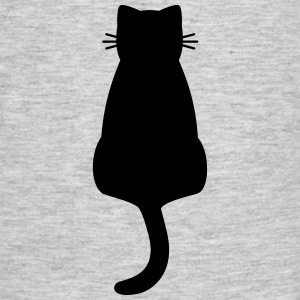 Cat black silhouette - Men's T-Shirt