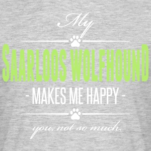 My Saarloos Wolfhound makes me happy - Männer T-Shirt
