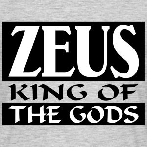 Zeus _-_ King_Of_The_Gods - T-skjorte for menn