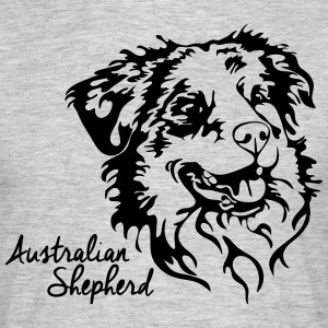 AUSTRALIAN SHEPHERD PORTRAIT - Men's T-Shirt