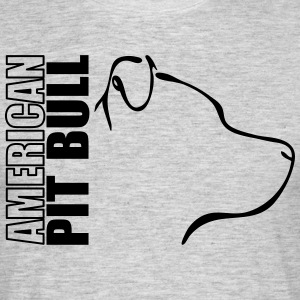 AMERICAN PITBULL PROFILE - Men's T-Shirt