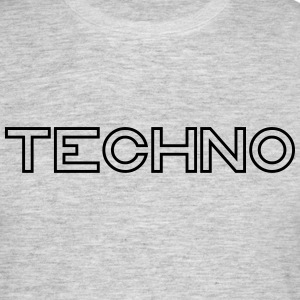 techno - T-shirt herr