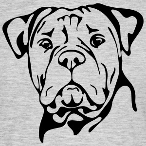 OLD ENGLISH BULLDOG PORTRAIT - Männer T-Shirt