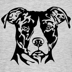 AMERICAN STAFFORDSHIRE PORTRAIT - T-shirt Homme
