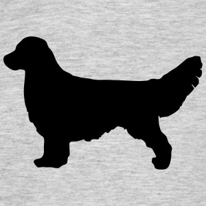 GOLDEN RETRIEVER Silhouette - T-skjorte for menn