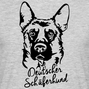 German Shepherd STÅENDE - T-shirt herr