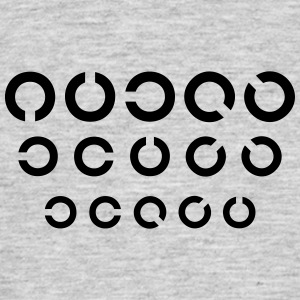 Eye Test 3r - Mannen T-shirt